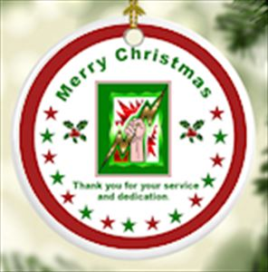 Thank you for your Service Porcelain Christmas Ornament