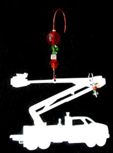 Wooden Utility Truck Christmas Tree Ornament