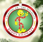 Reddy Kilowatt Christmas Ornament Electrician Power Company