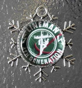 4th or 5th Generation Lineman Snowflake Christmas Tree Ornament