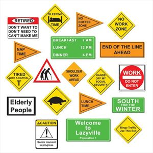 Funny Retirement Decorations - Signs Pack of 19