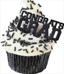 Congrats Grad Cupcake Picks - Party Decorations
