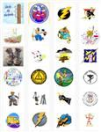 24 Party Stickers - Electrical Themed - 4 sheets of 6