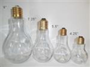 Glass Light Bulb Candy Jar Container - FOUR Sizes!