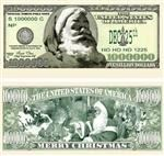 Santa Million Dollar Bill - Merry Christmas!