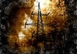 Unique Grunge Style Transmission Line Print 8 x 10 or 11 x 17