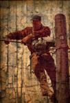 Norman Rockwell Revisioned Lineman Art Print