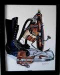 LINEMAN Gear l Art Print Framed Gift  - Full Color 16 x 20