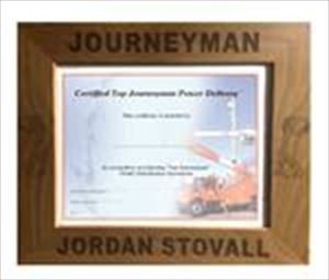Personalized Journeyman Certificate Frame with Hooks