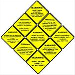 8 Inch FUNNY Laminated Warning Signs - YOUR CHOICE