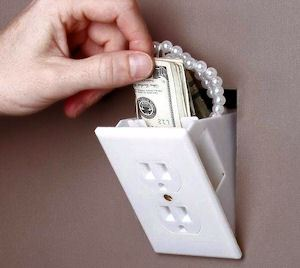 Hidden Wall Safe - Looks Like Electrical Outlet