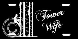 Tower Wife Metal License Plate