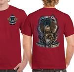 SZ MEDIUM ONLY -American Tower Worker Red T-Shirt
