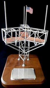 Beautiful Cell Tower Top Business Card Holder - Telecom Gift