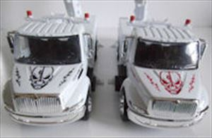 Lineman Skull Toy Utility Trucks-Bucket, Digger & Pickup