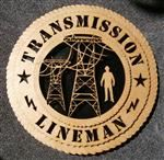 "Transmission Lineman 12"" Wood Wall Plaque Gift"