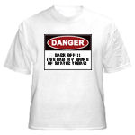 Danger Back Off...I've gotten my share of static today, t-shirt, tees for electrical workers