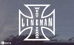 Are you a West Texas Lineman? Order a cool decal for your truck today!