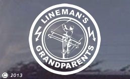 Linemans Grandparents decal sticker... Peel the S off if you there is only one grandparent