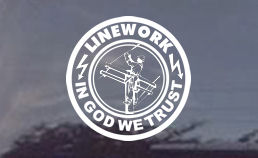 In God We Trust Lineman Decal for Trucks