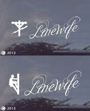linewife decals in two sizes... If you are a wife of a lineman, you should order one for your car or truck.