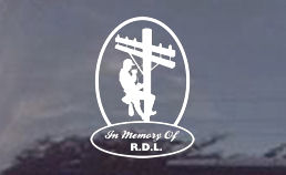 These lineman memorial decals are made of tough exterior vinyl...3mil..so you know they are going to last!