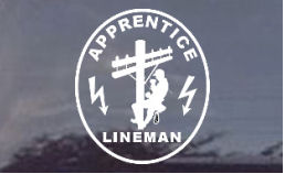 Apprentice lineman decal...very cool!