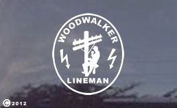 Woodwalker diecut decal for your car or truck window or whatever you want to stick it on!