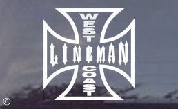 West Coast Lineman? Then this West Coast Lineman Decal is for you!