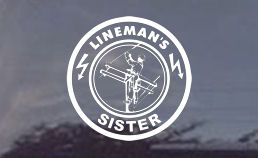 This lineman's sister decal would make any lineman proud! Order your diecut window today for your lineman brother!