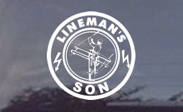 Linemans Son Window Decal - How cool is that?