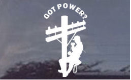 Got Power? Lineman Decals