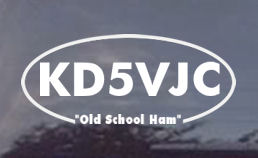Old School Ham Radio Operator Call Sign Custom Decal - order one today!