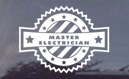 Master Electrician Window Decal