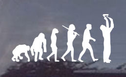 The evolution of the electrician? Sure to raise a few eyebrows. Order your evolution window decal today!