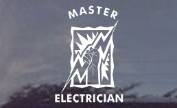 Master Electrician window decals.  Order these strong, durable stickers for your truck windows today!