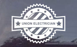union electrician window decals