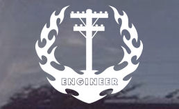 Electrical Engineer Flaming Window Decal