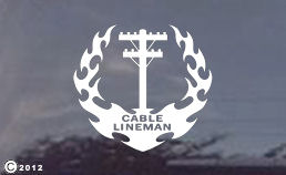 cable lineman window decals for your truck!