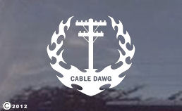 Cable Dawg window decals for your truck!