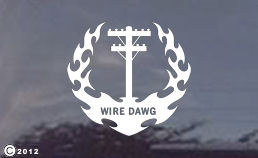 Wire Dawg Diecut window decals for your truck or car!