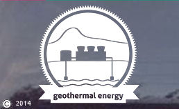 Geo Thermal Power energy die cut decals. Geothermal
