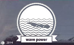Wave power die cut decals for your window or car!