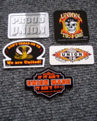 Union hard hat decals....screenprinted...top quality...durable...made in the USA by a Union company