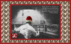 Wandering down memories of Christmas' past...nostalgic cards for our ham radio friends....
