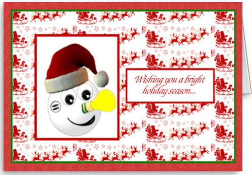 Lennie Lightyear will brighten up all your friend's Christmas' with his note of cheer!