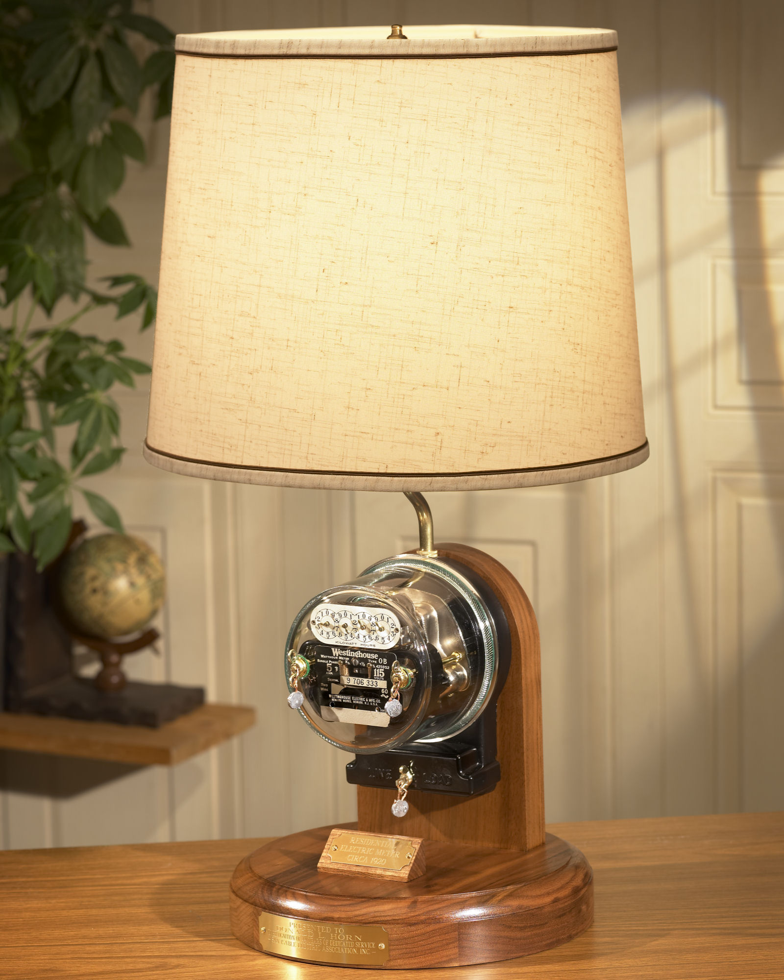 Heritage Residential Meter Lamp...traditional version. Deluxe is the same but with gold embellishments.