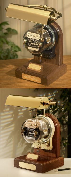 The Ambassador Antique Residential Meter Lamp...great gift for anyone in the electrical industry!