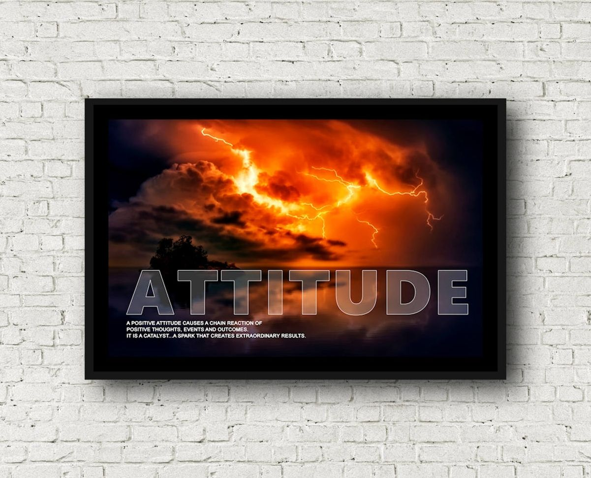Motivation and Uplifting Attitude Poster sized at 11x17. Professionally printed. Great gift for electricians or anyone who works with electricity.