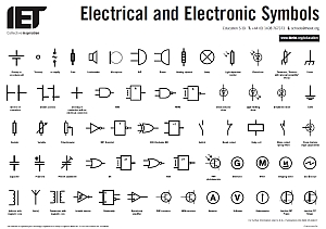 Common electrical and electronic symbols